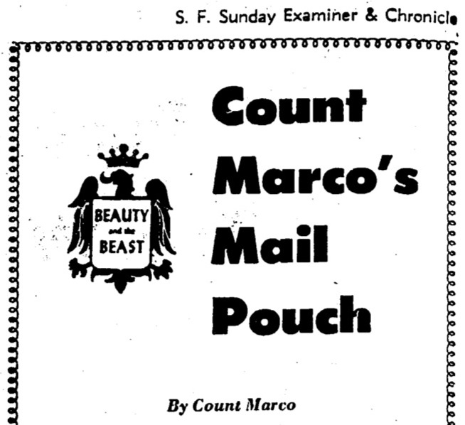 Count Marco's Mail Pouch